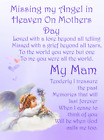 Mother's Day graveside Memorial Bereavement Card Mum Mam Grandma Nan MD36