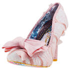 Irregular Choice Mal E Bow Womens Pink Synthetic Casual Shoes Slip-on New Style