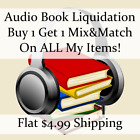 New Audio Book Liquidation Sale ** Authors: H-K #6 ** Buy 1 Get 1 flat ship