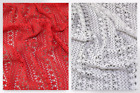 Cotton Crochet Effect Lace Dress Fabric (MV-M557-White-M)