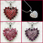 BUY 1 GET 1 50% OFF~SILVER HEART NECKLACE~VALENTINES DAY GIFT FOR HER WIFE MOM