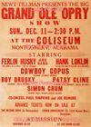 """PATSY CLINE 1960 Concert MONTGOMERY , AL = POSTER Almost 3 1/2 Feet Long 24""""x40"""""""