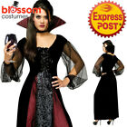 CA581 Goth Maiden Vampire Vamp Dracula Halloween Horror Scary Dress Up Costume