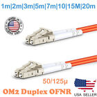 LC to LC MULTIMODE OM2 50/125 FIBER OPTIC PATCH CABLE 1m TO 20m