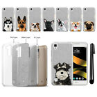 For LG Tribute HD LS676 X Style Dog Sparkling Silver Silicone Case Cover + Pen
