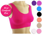 TV Bra Comfort Sports Bra Bustier Seamless Wellness Bra Pusch up S-XXL NEW