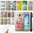 For Samsung Galaxy On5 G550 G500 Slim Soft TPU Silicone Clear Case Cover + Pen