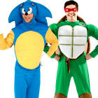Character Animal Mascot Mens Fancy Dress Cartoon Video Game Adults Costumes New