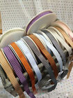VINTAGE STRIPE **textured** woven Ribbon - 12mm - 6 shades & various lengths