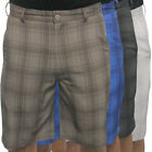 Antigua Sandstorm Flat Front Plaid Golf Shorts,  Brand NEW