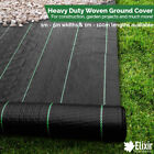 3m Wide Woven Weed Control Landscape Fabric with Pegs