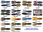 Missile Baits D Bomb Soft Plastic Creature Craw Any Color Size MBBD365 MBDB45