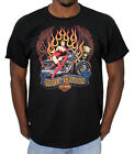 Harley-Davidson Mens Flame Babe with Skull & Wings Black Short Sleeve T-Shirt $9.99 USD