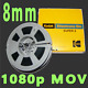 WE TRANSFER YOUR 8MM HOME MOVIE REEL TO REEL FILMS TO 1920 X1080 1080p HD MOV