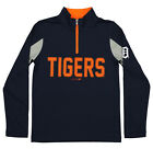Outerstuff MLB Youth Detroit Tigers 1/4 Zip Performance Long Sleeve Top, Navy