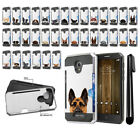 For Alcatel Fierce 4 Allura 5056 Dog Design Brushed Hybrid Case Cover + Pen