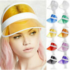 Retro Visior Cap Sun Cover  Peaked Cap Transparent Poker Plastic $19.65 USD on eBay