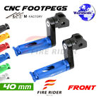 For Triumph Speed Triple 900 97 98 40mm Riser CNC Billet Front Footpegs $50.88 USD