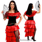 I76 Spanish Senorita Mexican Spain Dancing Dress Costume Flamenco Dancer Can Can