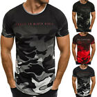 Men's Slim Fit Short Sleeve Muscle Tee Shirts Casual T-shirt Tops Blouse 5 Sizes
