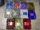 50 FT Tinsel Garland Christmas Holiday Decoration Red Gold/Red blue Silver/Blue