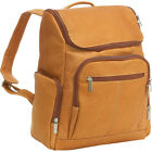 Le Donne Leather Computer Back Pack 4 Colors Business & Laptop Backpack NEW