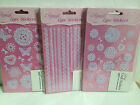 ELEGANZA 'LACE' - Adhesive backed Craft Stickers peel offs - 5 different designs