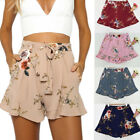 Boho Femmes Casual Pantalon Court Floral Large Jambe Plage Filles Loose Shorts
