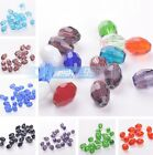 24pcs 13x10mm Oval Faceted Crystal Glass Loose Spacer Beads DIY Findings