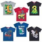 Boys Birthday T-Shirt Age 1 2 3 4 5 6 Party Outfit Top Age