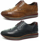 New London Brogues Luke Mens Brogue Shoes ALL SIZES AND COLOURS