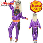 CA501 Ladies Retro Neon 80's Height Fashion Tracksuit Shell Suit Party Costume