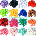 NEW 100~1400pcs 10mm Round Acrylic Spacer Loose Big Hole Beads 22 Colors
