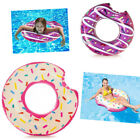 Inflatable Donut Swim Ring Tube Float Swimming Beach Holiday Fun Lounger Lilo