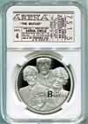 Beatles Silver Coin in a Concert Ticket Presentation Case 12 Different Concerts