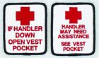 Handler Assistance Service Dog Patch 2.5X3 Medical Therapy Disabled Danny LuAnn