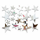 Gold Silver Star Wall Sticker 3d Mirror Art Removable Decal Acrylic Home Decor