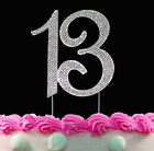 13th Birthday Cake Toppers Bling Birthday or Anniversary Party Decor Silver/Gold
