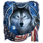 Wolf Dream Flag Size Youth Medium to 6 X Large T Shirt Pick Your Size image