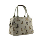 House of Tweed Waxed Dog Print Tote/Day/Travel Bag