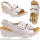 Ladies Summer Wedge Heel Open Toe Sandal Ankle Touch Strap Women Beach Slippers