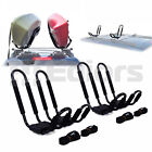 Kayak Carrier Boat Ski Surf Snowboard Roof Mount Car Cross J-Bar Rack Wire Black