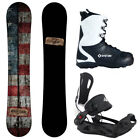 BLEM Camp7 Drifter + System MTN Bindings + APX Boot Men's Snowboard Package