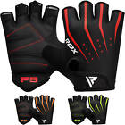 RDX Black Weight Lifting Gym Gloves Yoga Workout Fitness Cycling Training WGS-F5