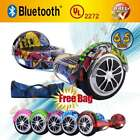 "UL 2272 6.5"" Self Balancing 2 Wheel Electric Scooter Hoverboard LED Bluetooth"
