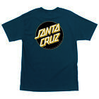 SANTA CRUZ SILVER OTHER DOT T-SHIRT HARBOR BLUE W/ BLACK & GOLD