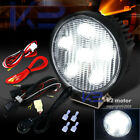 """4X4 Off Road Truck Flood 6-LED 4.5"""" Round Work Light DRL Fog Lamp+Wiring+Switch"""