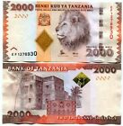 TANZANIA 2000 2,000 SHILLINGS ND 2010 / 2016 P 42 NEW SIGN UNC