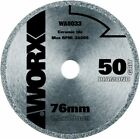 Worx WA5033 Diamond Coated Mini Circular Saw Blade 50 Grit 76mm 1.2x10mm