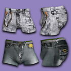 Men's Fashion Sexy Cotton Underpants Shorts Denim Jeans Underwear Hipster Briefs